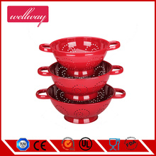 New design Stainless steel colander set/mesh baket/rice colanderstainless steel colander mesh