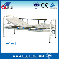 Full plastic sprayed metal 2 function manual medical bed for the elderly