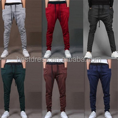 mens sweat pants slim joggers wholesale side pockets mens joggers