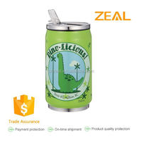 Zeal with straw stainless steel 330ml cola can