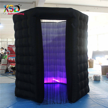New design 2.4m black octagon inflatable photo booth / inflatable led lighting enclosure for sale