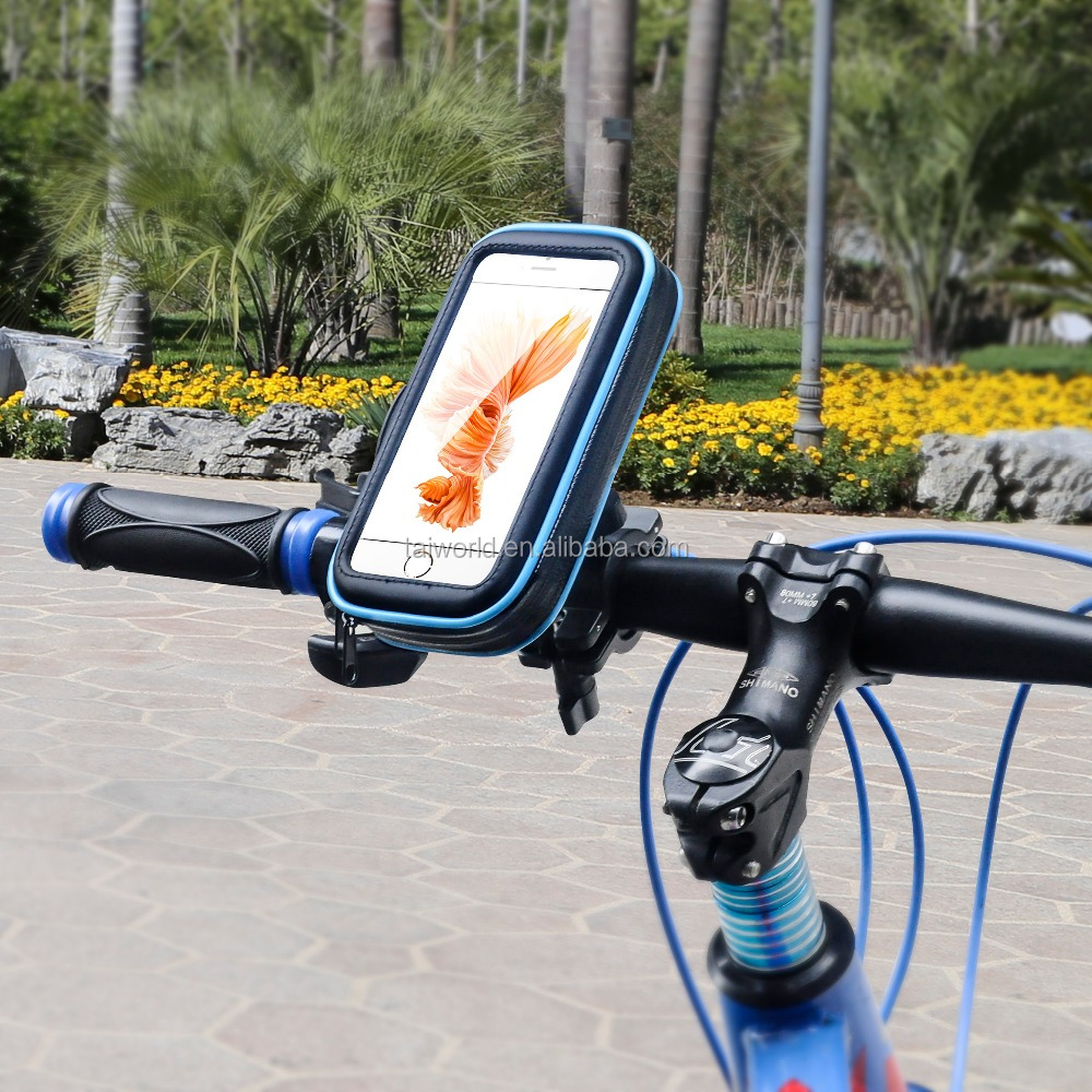 2016 best seller Smartphone Bike Handlebar Mount with Waterproof bag for iPhone 6 Plus iPhone 6 Samsung Galaxy S6 S5 S4