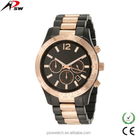 black and rose gold alloy metal MK watches for ladies