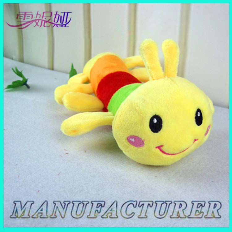 China Safety Stuffed Animal Worm Toys Organic Plush Toys From Hebei Factory