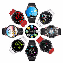 KW88 3 Colors MTK6580 Quad Core Single SIM Card 1.39 inch Capacitive Touch Round Screen Mobile Watch Phones
