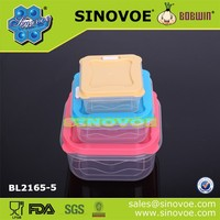 Plastic transparent food container healthy lunch box