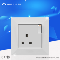 Mordio 15A wall socket and switch screwless wall socket