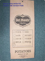 kraft paper bags and pp woven bags for the agricultural vegetable 25kg potato packaging bags