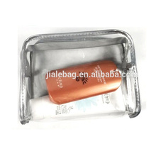New popular felt transparent plastic clear cosmetic waterproof pvc bags wholesale