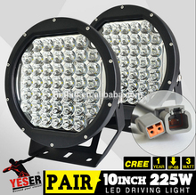 High-Quality 10 Inch 225W 20250LM 6500K 45 Pieces C-REE LED Working Light