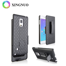 Alibaba Best Sellers Black Woven Holster Clip Kickstand Hard Shell Protector Designer Case For Samsung Galaxy Note 3