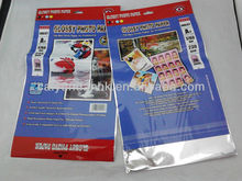 glossy photo paper packaging bag ,aluminum packaging bag
