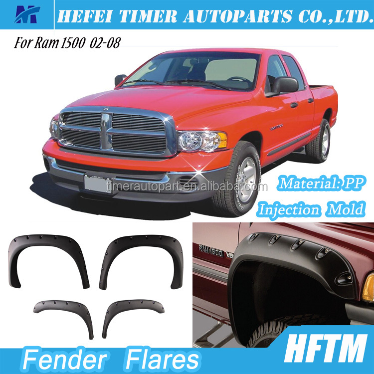 top quality PP material gadgets 2016 newest Truck Fender for Ram 1500 02-08