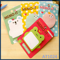 Free sample Alibaba popular cute style manufacturer korean stationery custom shaped sticky note