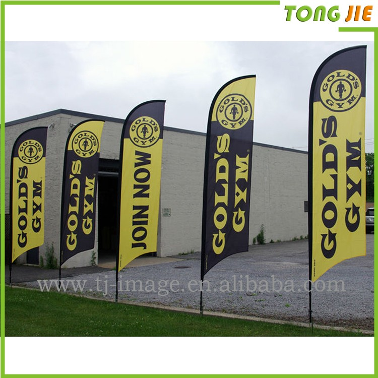 Flying flag pole feather teardrop banner beach flags for advertising