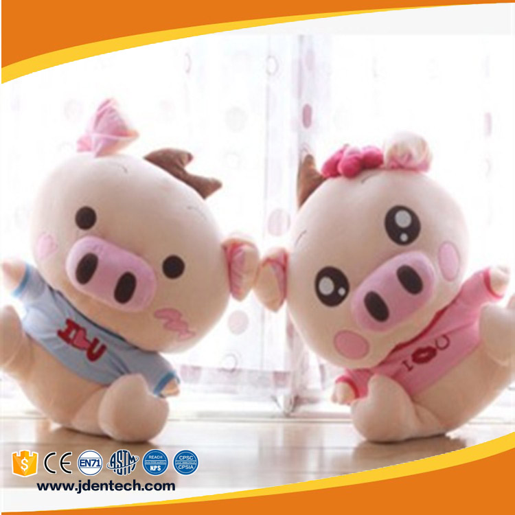 Small adorable soft baby pink pig lovers cuddly cheap plush toy
