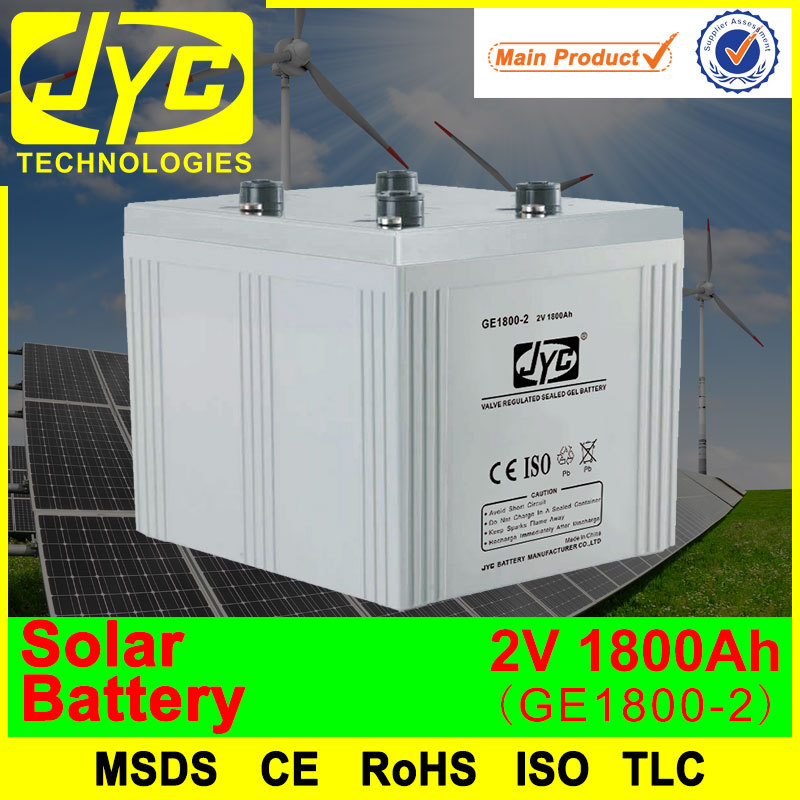 hot sales 2v 1800ah big capacity solar panel with battery