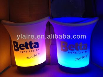 Popular Arc shape led illuminated ice bucket