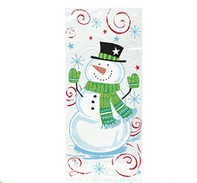 Winter Christmas Snowman Buddies Holiday Cellophane Bags