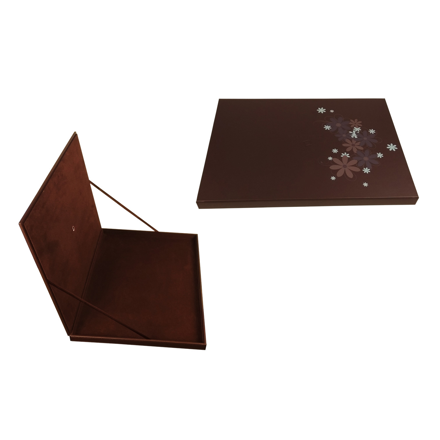 Exquisite fancy custom chocolate case brown leather chocolate box
