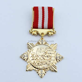 OEM fancy gold award medal