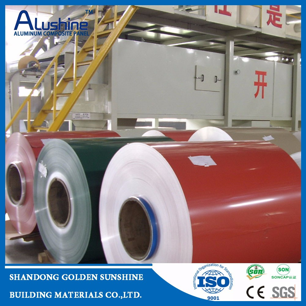3003 alloy PVDF or double polyester coating gutter alu coil with CE