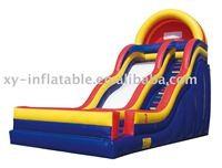 double curve inflatable slide inflatable dry/wet slide for sale