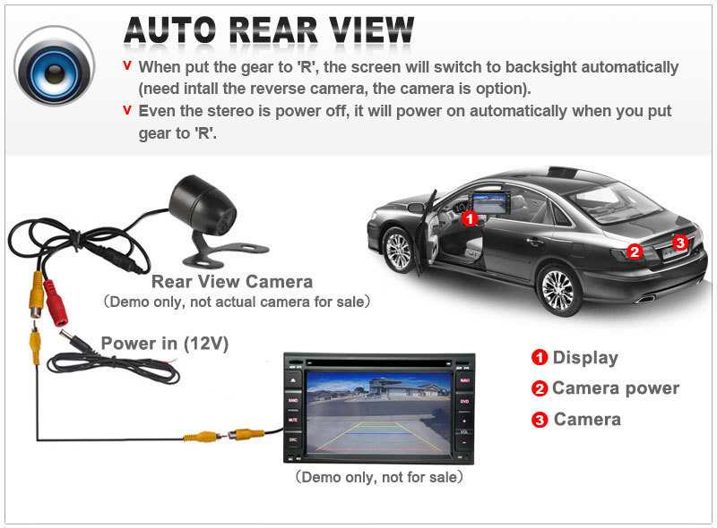 HD Car Rear View Camera For Buick Enclave 2010 Reverse Backup Camera Parking Assistance Camera Night Vision Waterproof