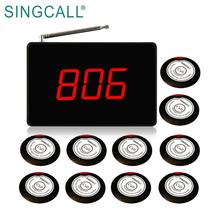 SINGCALL Buzzer Button System Waiter Service Calling Pager for Restaurant