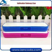 Plastic blank Dye Sublimation Pencil Case/Stationary Case/Cutlery box with aluminum insert/sheet/plate