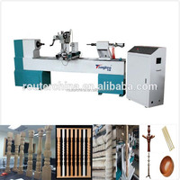 hot selling wooden baseball bat copy lathe spindle engraving machine