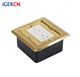 Brass Alloy Floor Mounted Duplex Receptacle Outlet With Electrical Box/hidden American Style Recessed Floor Mounted box