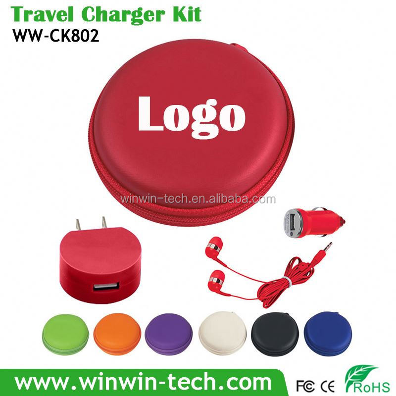 2016 promotional gift items charger kit for all smart mobile phones