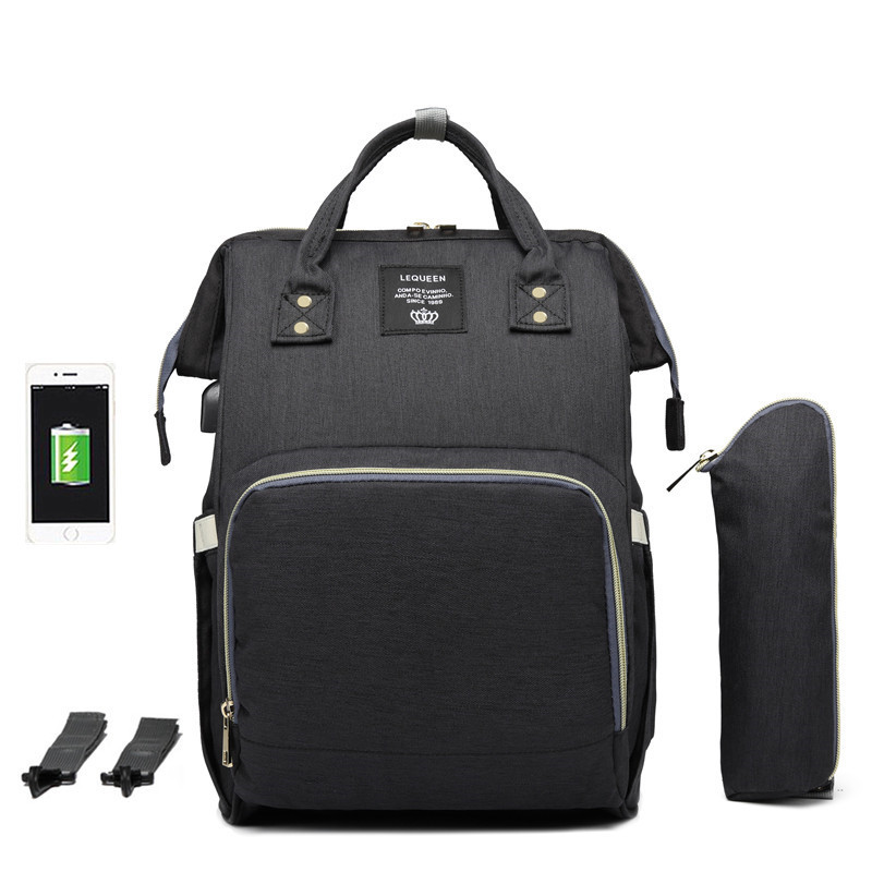 Original Lequeen baby travel bag with USB Charging port /diaper backpack / Baby Diaper Backpack bags for men