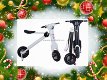 fantastic Christmas present smart mini foldable scooter with led light