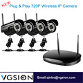 4 Channel HD Wifi NVR Kit 4 Wifi IP Cameras Security System Wireless