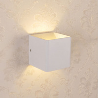 3W Led Indoor Wall Lamp Surface Mounted Cube Wall Light Spot Up And Down Wall Light Indoor Lighting Bracket Lamp espejo forja