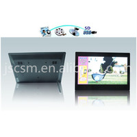 digital picture frame 14 inch tft LED screen,Mstar solution,high resolution support 1080P,HDMI input,video+music+photo etc.