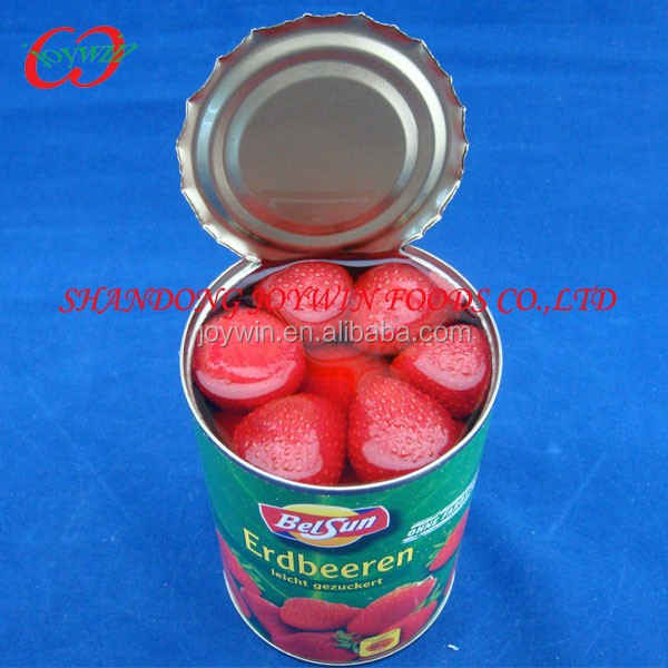 Canned strawberry in syrup exporter, good quality chinese strawberry in light syrup