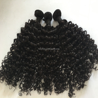 7A grade Qingdao Manufacture 100 percent indian remy human hair curly
