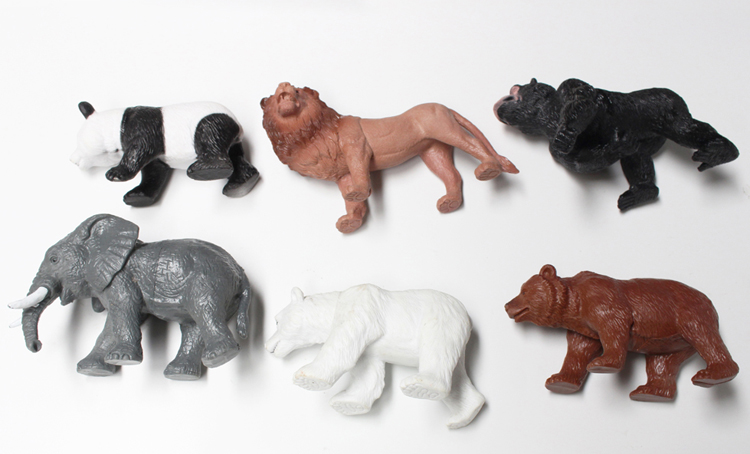 DIY hollow PVC zoo animal plastic toy for kids