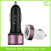 Yaika Manufacture 1A dual USB MFI car charger for samsung iphone