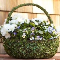 Natural Green Vine Flower Basket