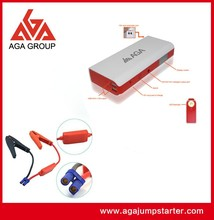 AGA mini car jump starter/ ultra big capacity 16000mAh/ essential outdoor equipment for electronic devices