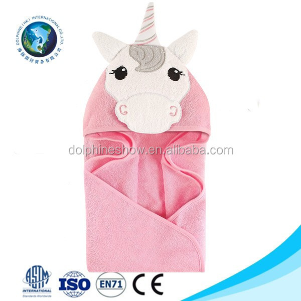 Various animal design Custom pretty cute 100% cotton bamboo baby bath hooded towel