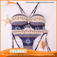 OEM sublimation transparent bikini show with low price
