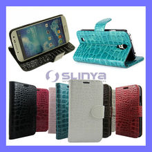 Leather Crocodile Wallet For Galaxy S4 Pouch
