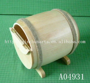 The wooden character of storage box character, side drum shape storage box