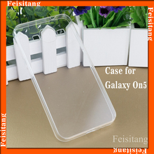 Popular products Transparent soft tpu+pc mobile phone cases for Samsung Galaxy On5