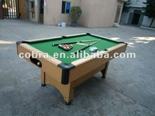 Vertical MDF Billiard Table KBL-8008 Plastic corner,wool fabric for indoor